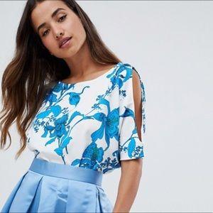 NWOT | Closet London Floral Short Sleeve Top